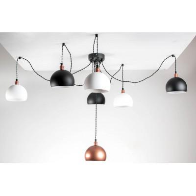 Lampa pająk TESTER 7LP/BIAŁY+CZARNY+MIEDŹ/CZARNA