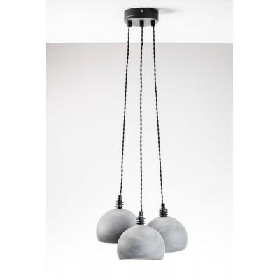 Lampa wisząca TESTER 3L/ BETON/CZARNY