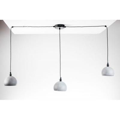 Lampa pająk wisząca żarówka B 3 szara lampa industrialna loftowa testerbis ręcznie robiona 3 żarówek
