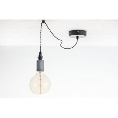 Lampa pająk wisząca żarówka BETON 1NP lampa industrialna loftowa testerbis ręcznie robiona 1 żarówka