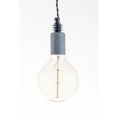 Lampa pająk wisząca żarówka BETON 4NP lampa industrialna loftowa testerbis ręcznie robiona 4 żarówki