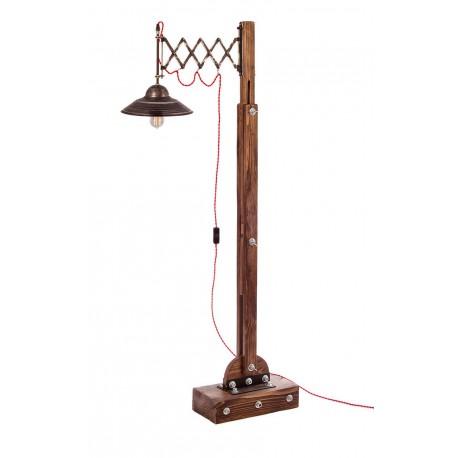 Lampa loftowa stojąca WOODEN CRANE ZIG ZAG /HANDMADE/
