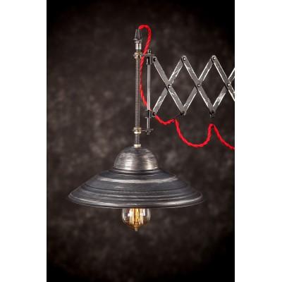 Lampa loftowa stojąca WOODEN CRANE ZIG ZAG