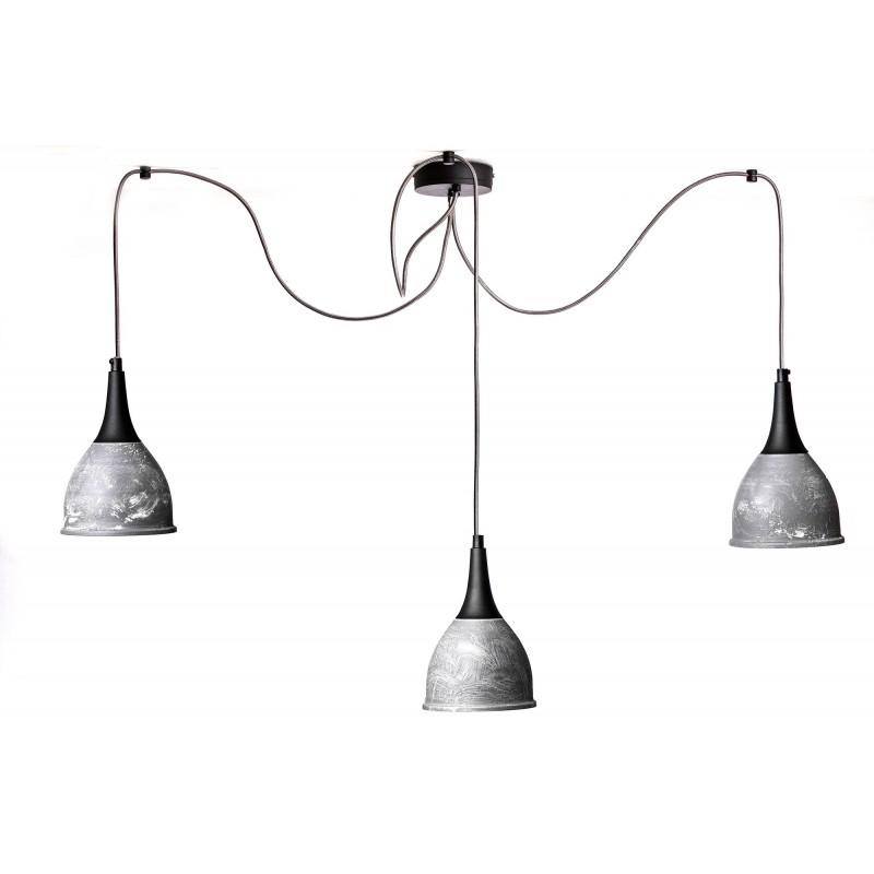 Lampa pająk wisząca Mechanical 3 kolor beton Testerbis ręcznie robiona