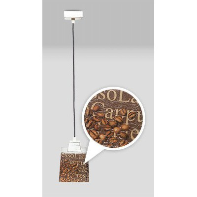 Lampa PROWANSALSKA wisząca SCANDIA COFFEE 1L
