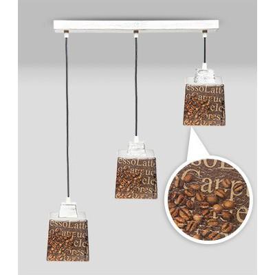 Lampa PROWANSALSKA wisząca SCANDIA COFFEE 3L