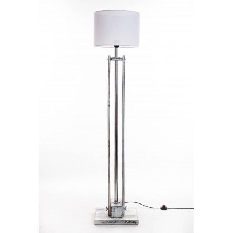 Lampa podłogowa CLASSIC biała przecierana /HANDMADE/