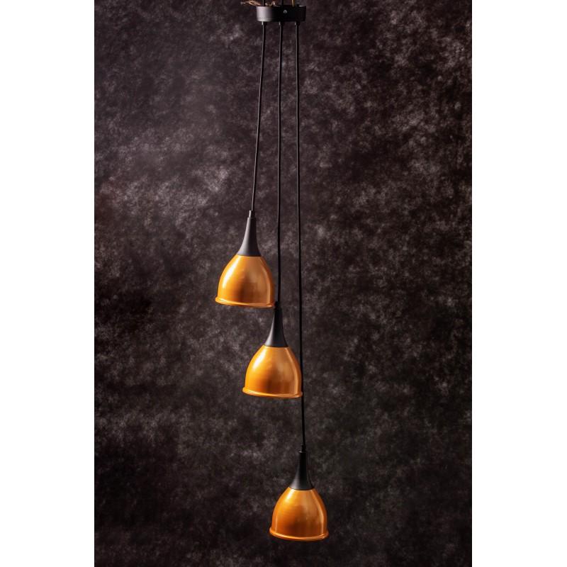 Lampa wisząca MONIC 3 ZŁOTA  / CZARNY różne długości  żarówki producent tanio online