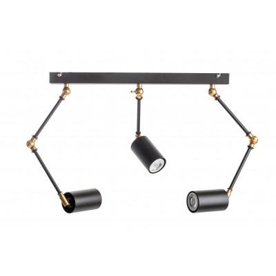 Lampa wisząca reflektor LAMPA SPECTRA 3P / MOSIĄDZ czarne