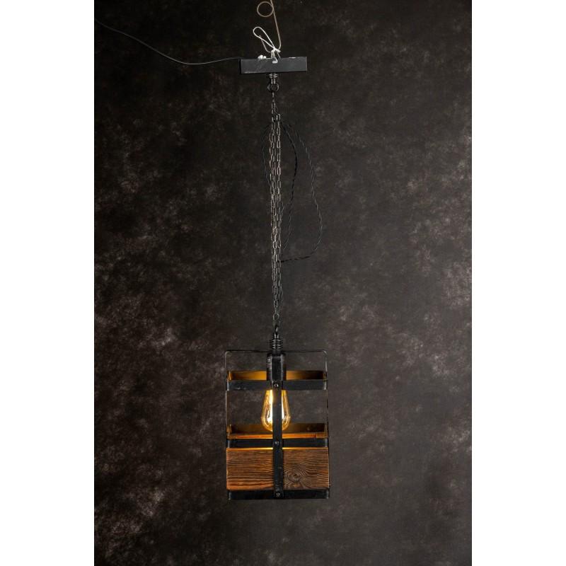 Lampa INDUSTRIALNA HANNIBAL 1L/DREWNO STARE