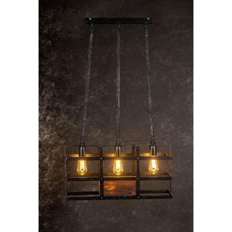 Lampa INDUSTRIALNA HANNIBAL 3L/DREWNO STARE