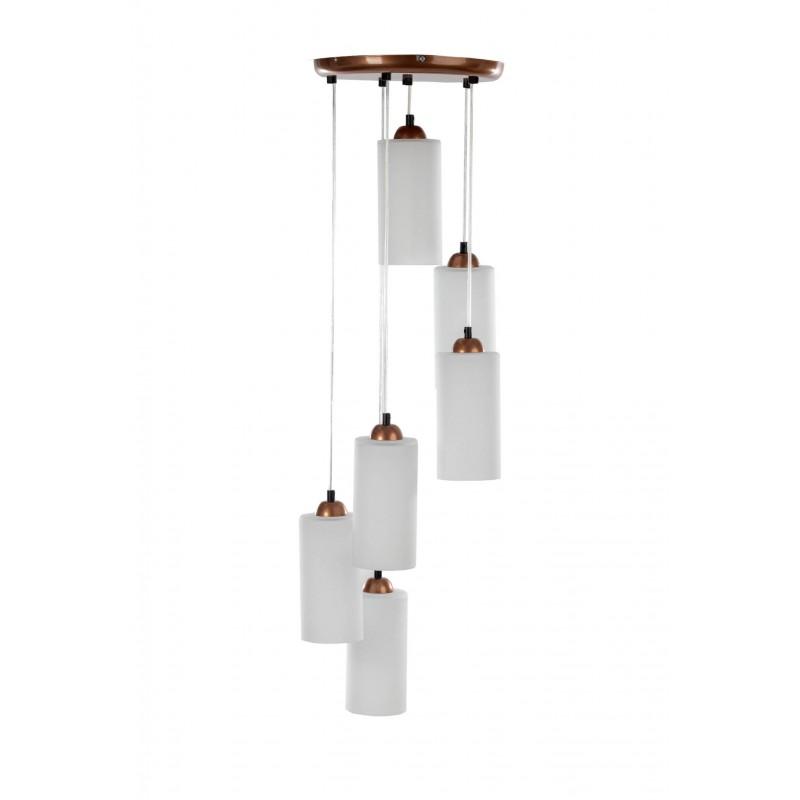 lampa wisząca Bartolomeo 6LP/miedź