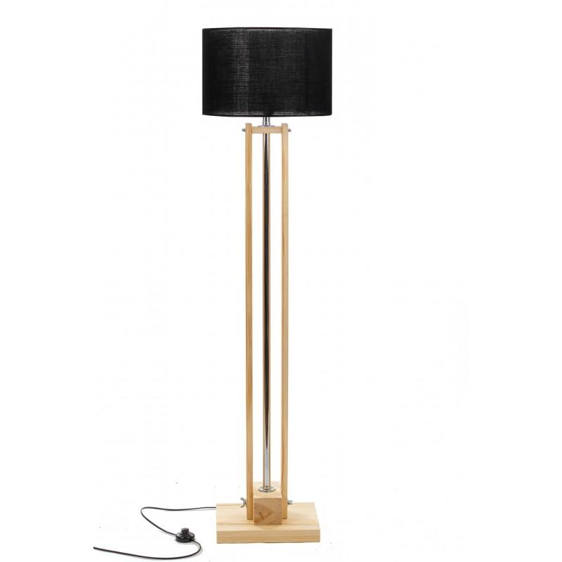Lampa podłogowa CLASSIC Natural/HANDMADE/BLACK