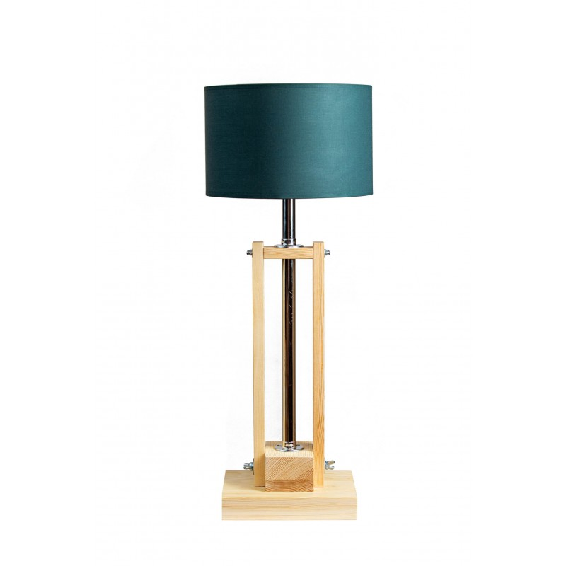 Lampa CLASSIC GABINETOWA NATURAL /HANDMADE/BOTTLE GREEN