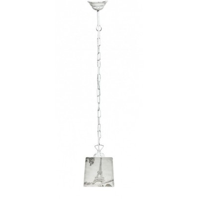 Lampa PROWANSALSKA wisząca na łańcuchu SCANDIA PARIS B&W
