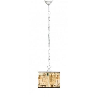 Lampa PROWANSALSKA wisząca na łańcuchu SCANDIA FRANCE CUBE