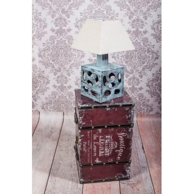 Lampka ceramiczna CUBE w kolorze przetartej mięty