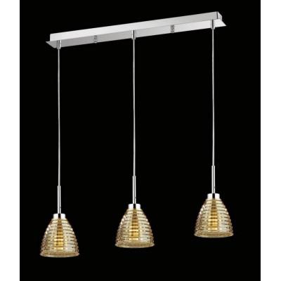 Lampa wisząca nowoczesna BETTY GOLDEN GLASS 3L