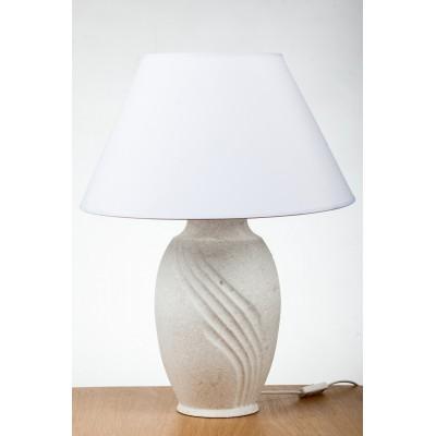 PROWANSALSKA LAMPA CERAMICZNA /BIAŁA