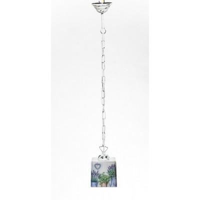 Lampa PROWANSALSKA wisząca na łańcuchu SCANDIA FLOWERS