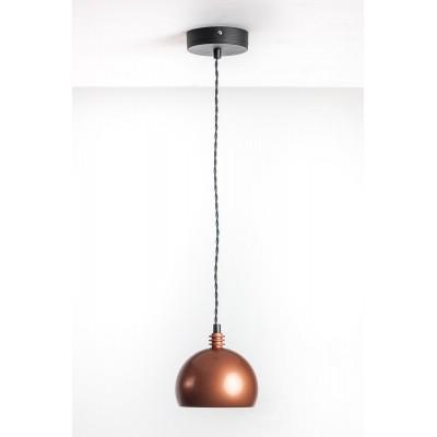 Lampa wisząca TESTER 1L /MIEDŹ/CZARNY