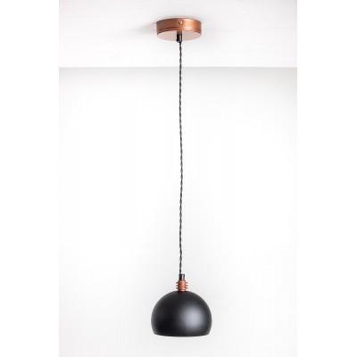 Lampa wisząca TESTER 1L /CZARNA/MIEDŹ