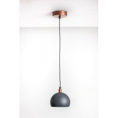 Lampa wisząca TESTER 1L /SZARA/MIEDŹ