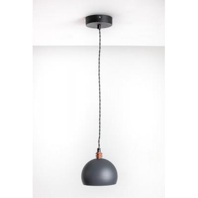 Lampa wisząca TESTER 1L /SZARA/CZARNY